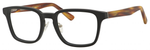 Ernest Hemingway H4827 Unisex Square Frame Eyeglasses in Black/Amber 51 mm Custom Lens
