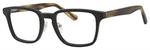 Ernest Hemingway H4827 Unisex Square Frame Eyeglasses in Black/Olive 51 mm Custom Lens