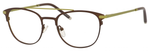 Ernest Hemingway H4832 Womens Round Eyeglasses in Brown/Lime Green 49 mm Custom Lens