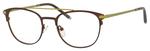 Ernest Hemingway Blue Light Filter& A/R Lenses H4832 Reading Glasses Brown/Lime Green 49 mm