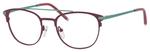Ernest Hemingway H4832 Womens Round Eyeglasses in Burgundy/Teal 49 mm Custom Lens