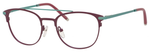 Ernest Hemingway H4832 Womens Round Eyeglasses in Burgundy/Teal 49 mm RX SV