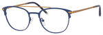 Ernest Hemingway H4832 Womens Round Eyeglasses in Navy/Bronze 49 mm Custom Lens