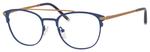 Ernest Hemingway H4832 Womens Round Eyeglasses in Navy/Bronze 49 mm Progressive