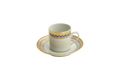 Mottahedeh Chinoise Blue Demitasse Cup and Saucer S1526