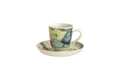 Mottahedeh Tobacco Leaf Demitasse Cup and Saucer y2351