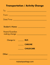 SCHOOLS: Change Forms - Refill
