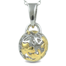 Shamrock - For Good Fortune (cute size) - sterling silver pendant