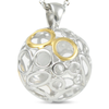 Featuring gold and silver circles, symbolizing eternity. For eternal love!