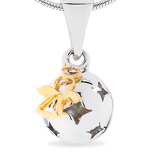 Angel's wishes - sterling silver pendant (cute size)