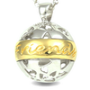 Message in a Sphere- sterling silver necklace