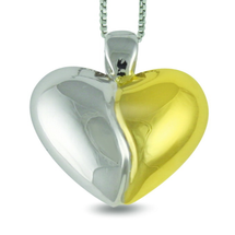 Soulmates - be my soul mate. Heart sterling silver necklace