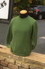 Moss Green Machine Knit Sweater