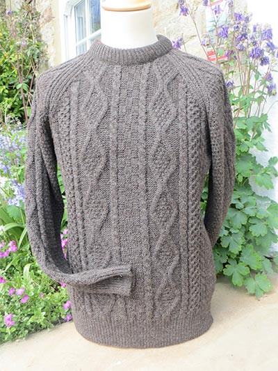 Machine Knit Mid Weight Aran Sweater Swaledale Woollens