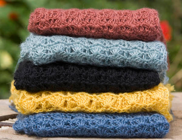 Hand Crocheted Scarf Swaledale Woollens