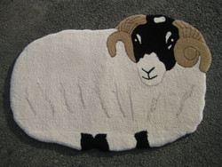 Hand Tufted Tup rug in Natural Swaledale and Welsh Hill wool