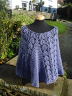 Crocheted Poncho in Wensleydale wool