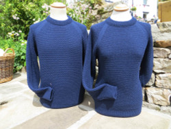 The Honeycomb Sweater in Navy Swaledale Wool