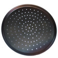 Black Steel Perforated Pizza Tray 15""