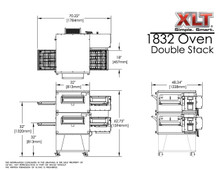 XLT 1832 Double Stack Conveyor Pizza Oven Aussie Pizza Supplies