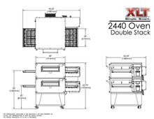 XLT 2440-2 Double Stack Conveyor Pizza Oven Aussie Pizza Supplies