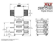 XLT 2440-3 Triple Stack Conveyor Pizza Oven Aussie Pizza Supplies