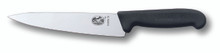 Victorinox Cooks Carving Knife 22cm Fibrox - Black 5.2003.22