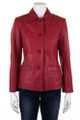 Woodland Ladies Leather Red Jacket