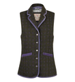 Jack Murphy Amber Tweed Gilet in Polka Dot Tweed