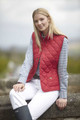 Toggi Esher Ladies Quilted Gilet in Antique Red and Blackberry