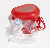 Dynamic First Aid C.P.R. Mask One Way Valve, Oxygen Inlet in Plastic Container