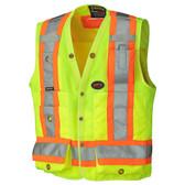 Hi-Vis Surveyor Safety Vest - CSA, Class 2, 150D - Pioneer Startech - 6693 Yellow
