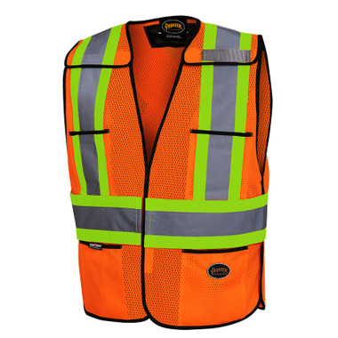 Hi-Vis Tear-Away Traffic Safety Vest - CSA, Class 2 - Pioneer - 6926