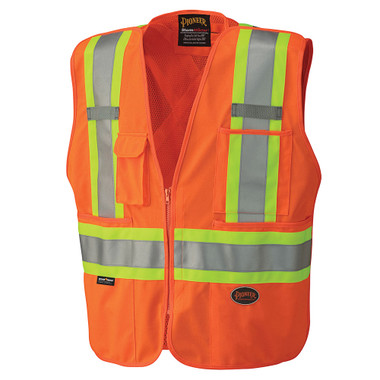 Hi-Vis Tear-Away Mesh Back Safety Vest - CSA, Class 2 - 6935