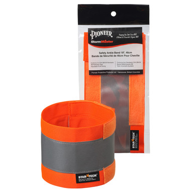 "Adjustable Hi-Vis Ankle Band - 18 x 4"" - Pioneer Startech"