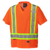 Hi-Vis Mesh Safety T-Shirt - CSA, Class 2 - Pioneer Startech 5994 Orange