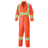 Hi-Vis Cotton Safety Coverall (Reg or TALL) - CSA, Class 3 - Pioneer - 5518 Orange