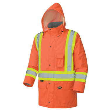 Hi-Vis Long Winter Quilted Safety Parka - CSA, Class 1 & 2 - Pioneer - 5030