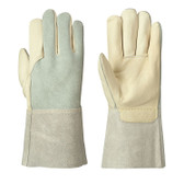 Welder's Cowgrain Leather Safety Glove - 12 Pkg - Pioneer - 5441