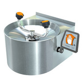 Stainless Steel Bowl and Skirt Eyewash System