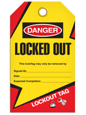 DANGER – LOCKED OUT TAG - LOCKOUT