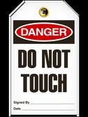 Danger DO NOTTOUCH Safety Tag - 25 Pkg - Incom - TG1004