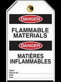 BILINGUAL DANGER – FLAMMABLE MATERIALS TAG