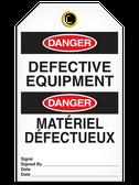 BILINGUAL DANGER – DEFECTIVE EQUIPMENT TAG