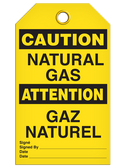 BILINGUAL CAUTION – NATURAL GAS