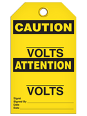 BILINGUAL CAUTION – ______ VOLTS