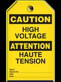 BILINGUAL CAUTION – HIGH VOLTAGE