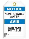 BILINGUAL NOTICE – NON POTABLE WATER