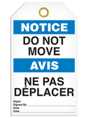 BILINGUAL NOTICE – DO NOT MOVE