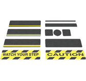"Black Gator Grip Anti-Slip Cleats 6"" x 24"" 50 cleats/pk"